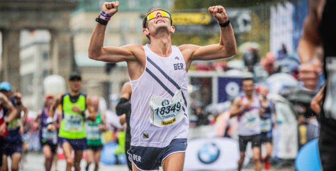 Thomas became Germany's fastest deaf runner in Berlin 2019 (personal record 2:47:11hrs, Boston qualifier)