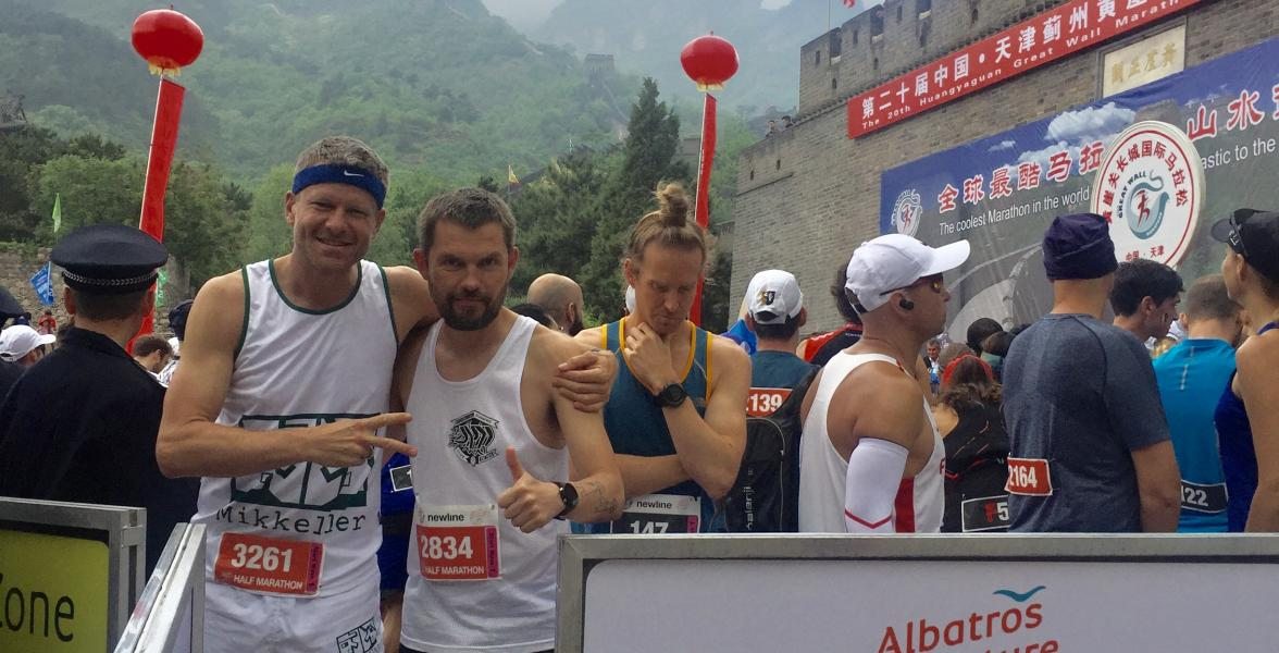 MRC runners at Great Wall Marathon 2019