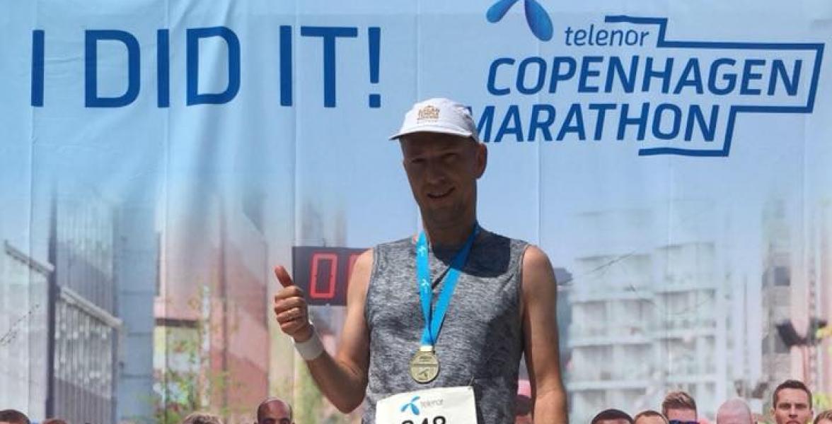 Rune at the Copenhagen Marathon
