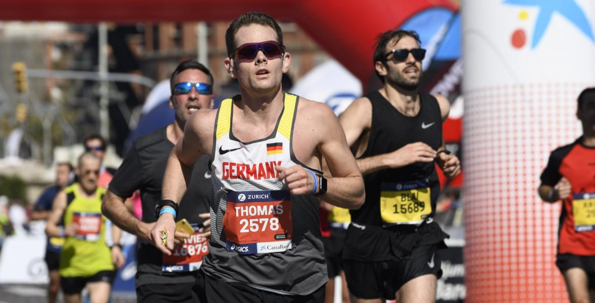 Thomas at the Barcelona Marathon in 2019